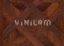 Виниловый ламинат Vinilam 216513 - Паркет темный (Версальский паркет)
