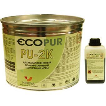 Двухкомпонентный полиуретановый клей для паркета Minova Carbo Pur 20 (Ecopur PU-2K) 6кг