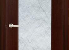 Двери межкомнатные Мебельмассив Альба одностворчатая дверь Альба1 матовый триплекс с художественной вставкой (венге fine-line)