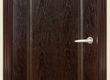 Двери межкомнатные Мебельмассив Альба одностворчатая дверь Альба3 (темный дуб)