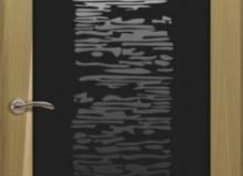 Двери межкомнатные Океан de Vesta одностворчатая дверь de Vesta EGO P чёрное стекло